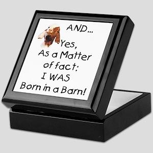 GOAT Born in Barn Keepsake Box