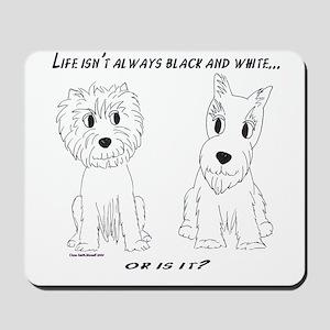 Credible Critters-Bl & Wh Scottie & Westie mousepd