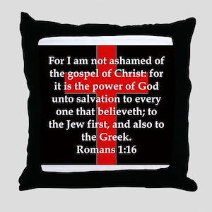 Romans 1-16 Throw Pillow