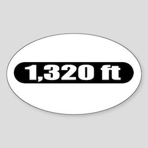1,320 ft Oval Sticker
