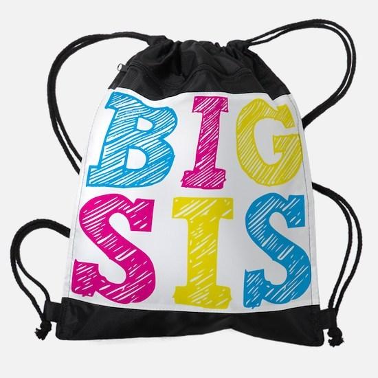 Multi-Colored Big Sis Drawstring Bag