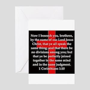 1 Corinthians 1-10 Greeting Card