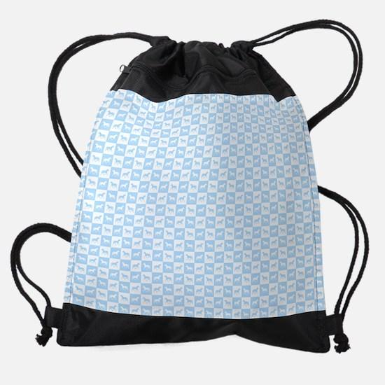 Blue horses Drawstring Bag
