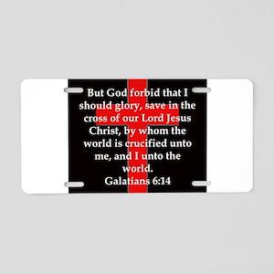 Galatians 6-14 Aluminum License Plate