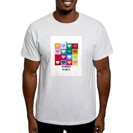 Colorful hearts, Love, Energy, E=MC2 T-Shirt