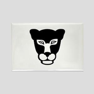 Leopard head face Rectangle Magnet
