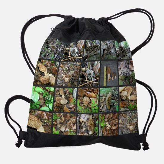 morel collage Drawstring Bag