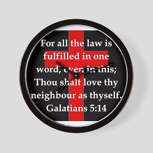 Galatians 5-14 Wall Clock