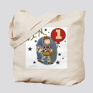 Cowgirl 1st Birthday Tote Bag
