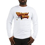 chimpin design on white Long Sleeve T-Shirt