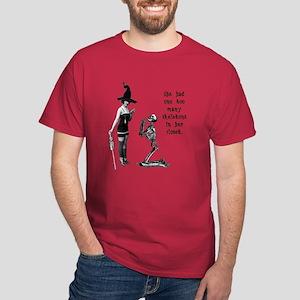 Witchy Skeleton Humor Dark T-Shirt