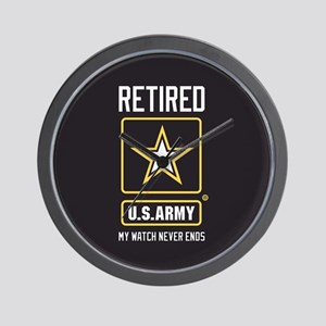 US Army Retired Watch Never Ends Wall Clock