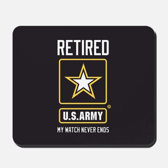 US Army Retired Watch Never Ends Mousepad