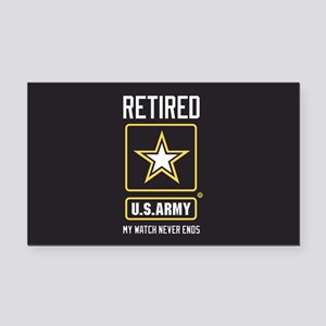 US Army Retired Watch Never E Rectangle Car Magnet