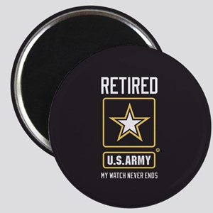US Army Retired Watch Never Ends Magnet