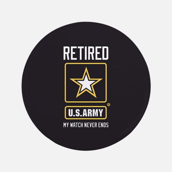 US Army Retired Watch Never Ends Button