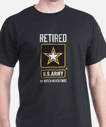 US Army Retired Watch Never Ends T-Shirt