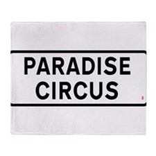 Paradise Circus Sign Throw Blanket