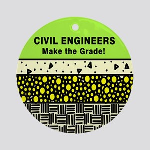 Civil Engineers Ornament (Round)