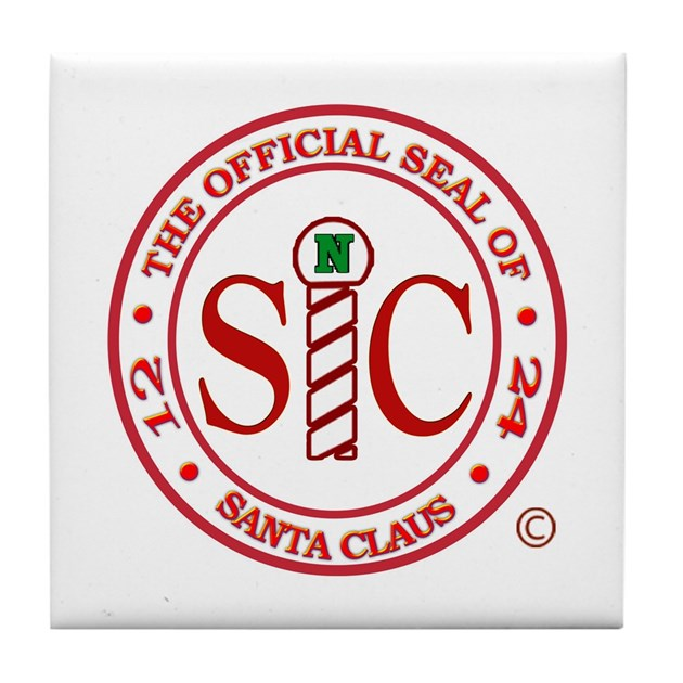 santa claus letter with seal would to official seal of santa claus tile coaster by justbeclausnet 944