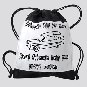 Hearses and friends Drawstring Bag