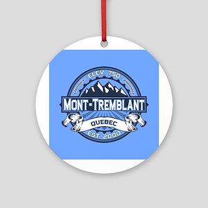 Mont-Tremblant Blue Ornament (Round)