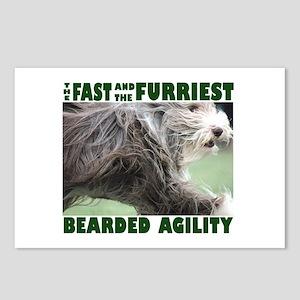 Beardie Agility! Postcards (Package of 8)