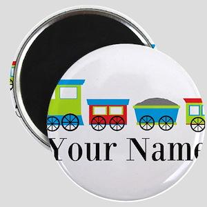Personalizable Train Cartoon Magnet