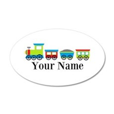 Personalizable Train Cartoon Wall Decal