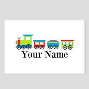 Personalizable Train Cartoon Postcards (Package of