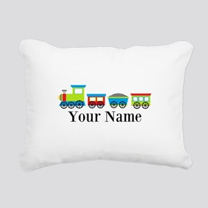Personalizable Train Cartoon Rectangular Canvas Pi