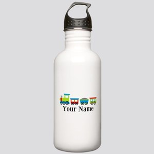 Personalizable Train Cartoon Water Bottle