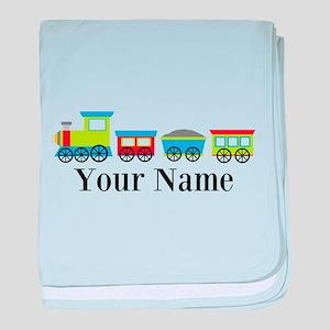 Personalizable Train Cartoon baby blanket