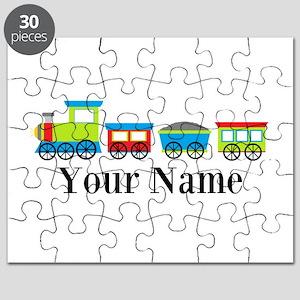 Personalizable Train Cartoon Puzzle