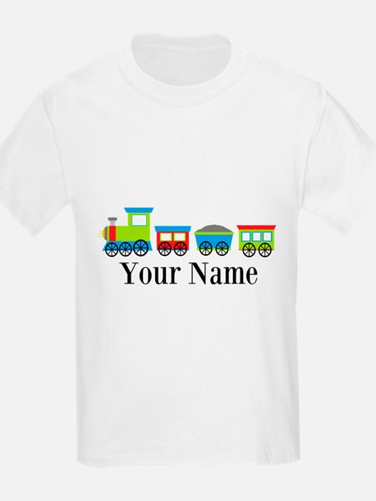 Personalizable Train Cartoon T-Shirt