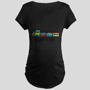 Personalizable Train Cartoon Maternity T-Shirt