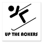 Up the Ackers Square Car Magnet 3