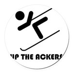 Up the Ackers Round Car Magnet