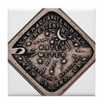 Water Meter Lid Squared Tile Coaster