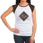 Water Meter Lid Squared Women's Cap Sleeve T-Shirt