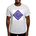 Water Meter Lid Squared Ash Grey T-Shirt
