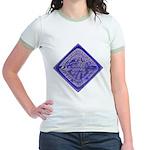 Water Meter Lid Squared Jr. Ringer T-Shirt