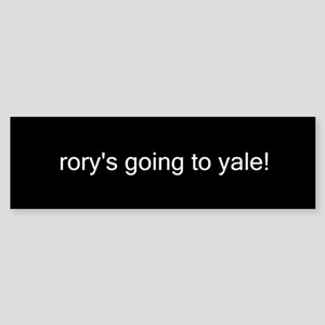 rory's going to yale! Bumper Sticker