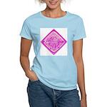 Water Meter Lid Squared Women's Pink T-Shirt