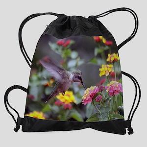 Hummingbird on Lantana 2015 Drawstring Bag