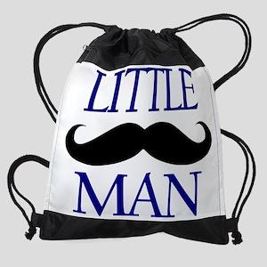 Little Man Mustache Drawstring Bag