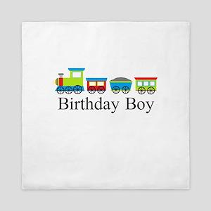 Birthday Boy Train Queen Duvet