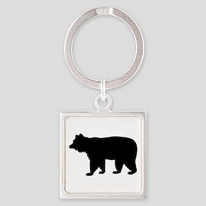Black bear Square Keychain