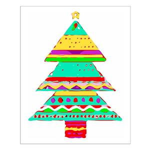 christmas tree posters cafepress - Aqua Christmas Tree