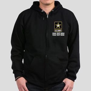 US Army Star Zip Hoodie (dark)